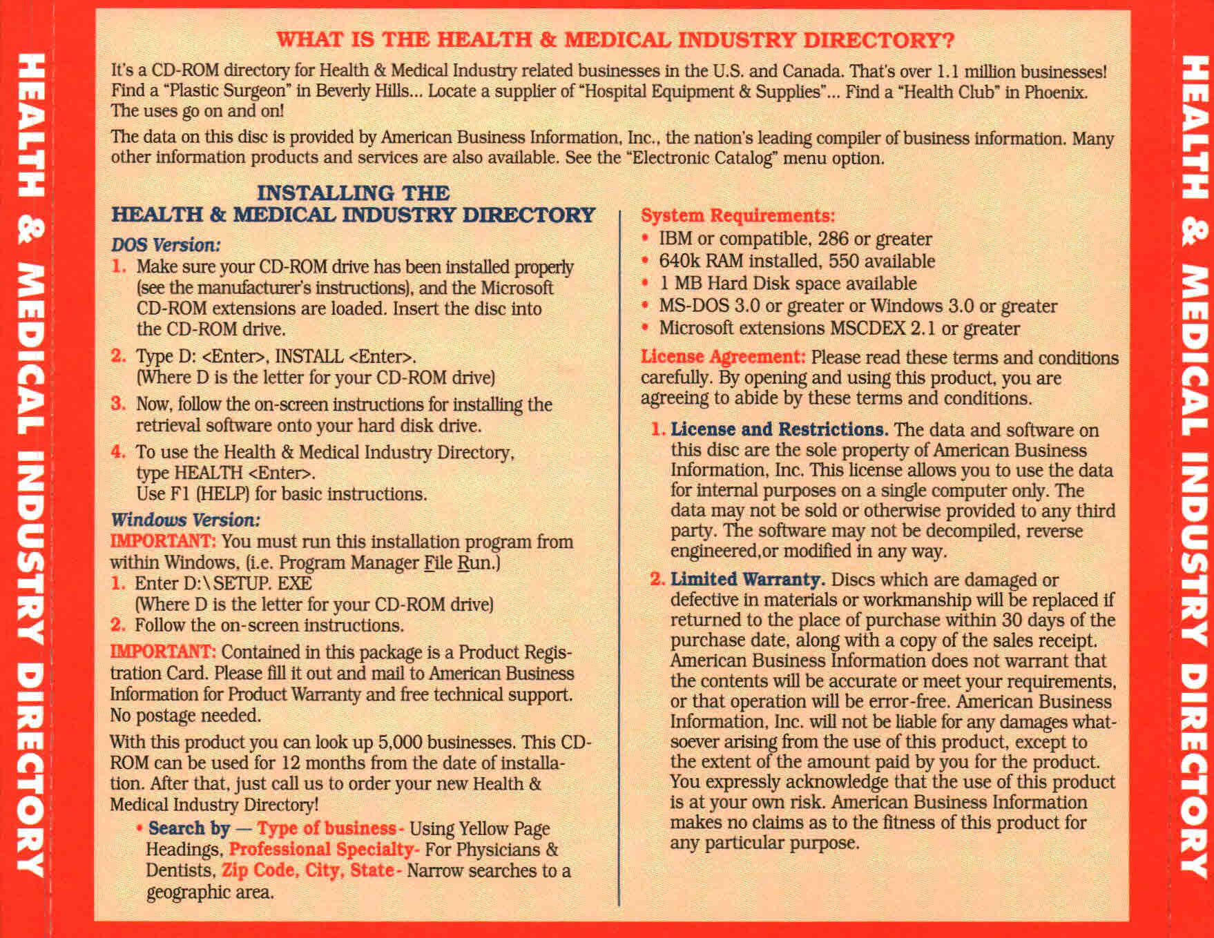 Health & Medical Industry Directory  1
